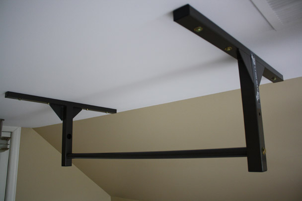 Ceiling Mounted Pull Up Bar Marine Style Fitness