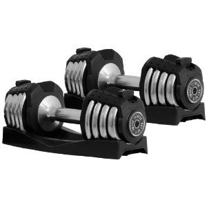 Xmark Fitness Adjustable Dumbbell Set